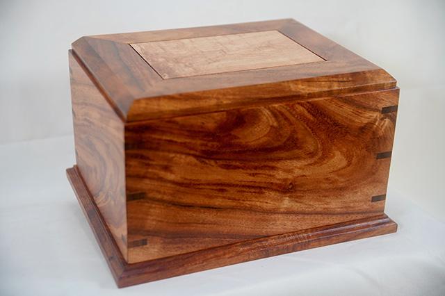 Koa urn (top view)